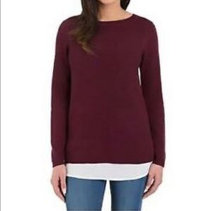 NWT Hilary Radley 2Fer Sweater